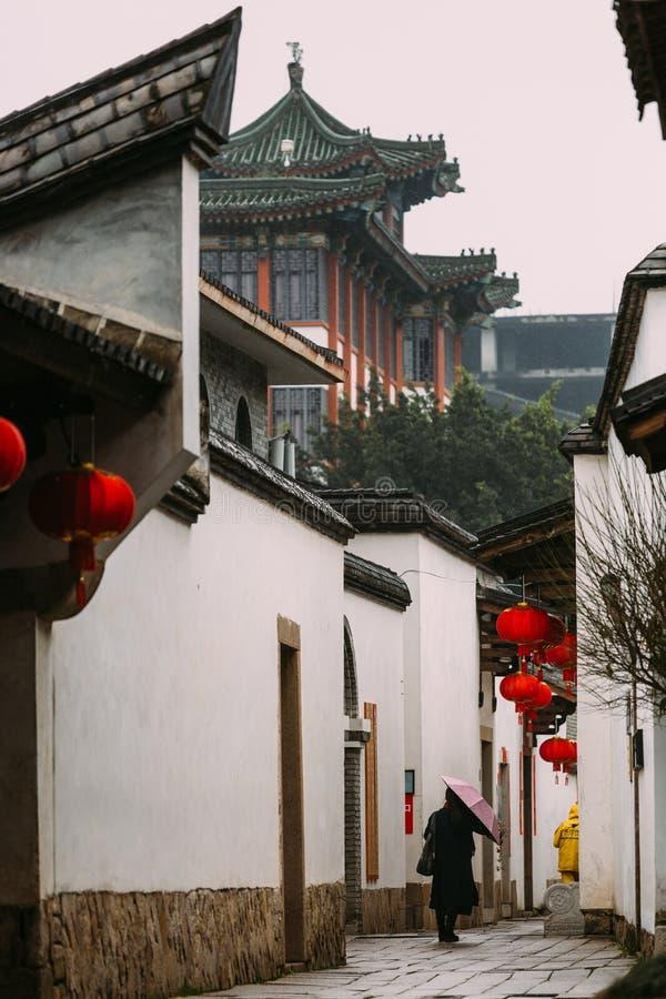 Province de Fuzhou, Fujian, Chine 7 MARS 2019 : le secteur historique et culturel célèbre Sanfang Qixiang à Fuzhou photographie stock