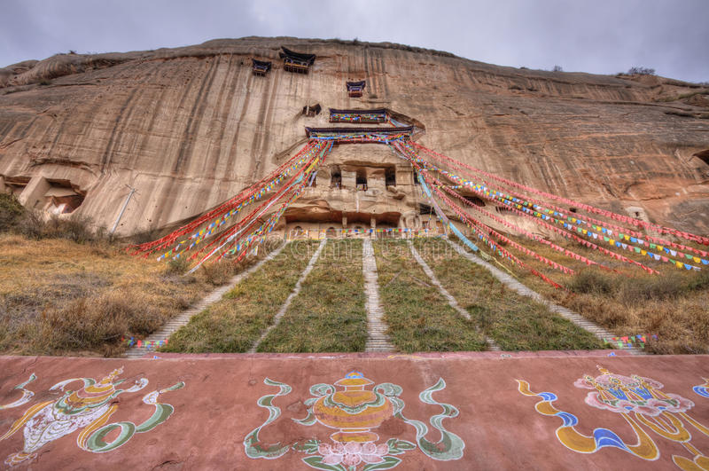 Province de Gansu de temple de Mati photo libre de droits