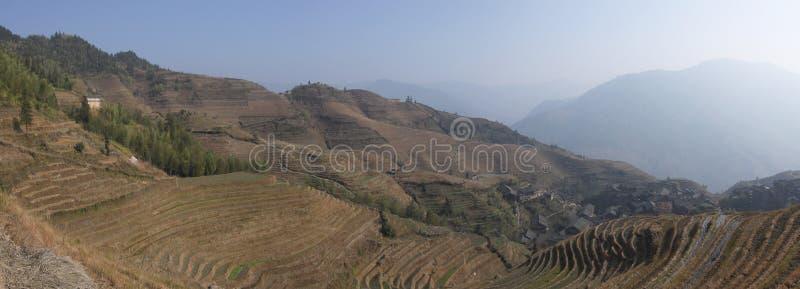 Province de Guangxi de terrasses de riz de Longsheng photo stock