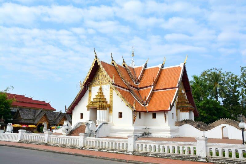 Province de Nan de phumin de Wat, la Thaïlande, culture du nord thaïlandaise et archit photographie stock libre de droits