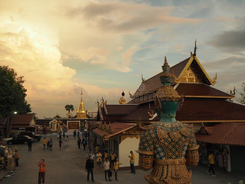 Province de Wat Phra That Doi Kham Chiangmai photo libre de droits