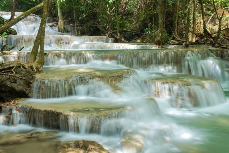 Province loacated par cascade d'Erawan Kanjanaburi, Thaïlande images libres de droits