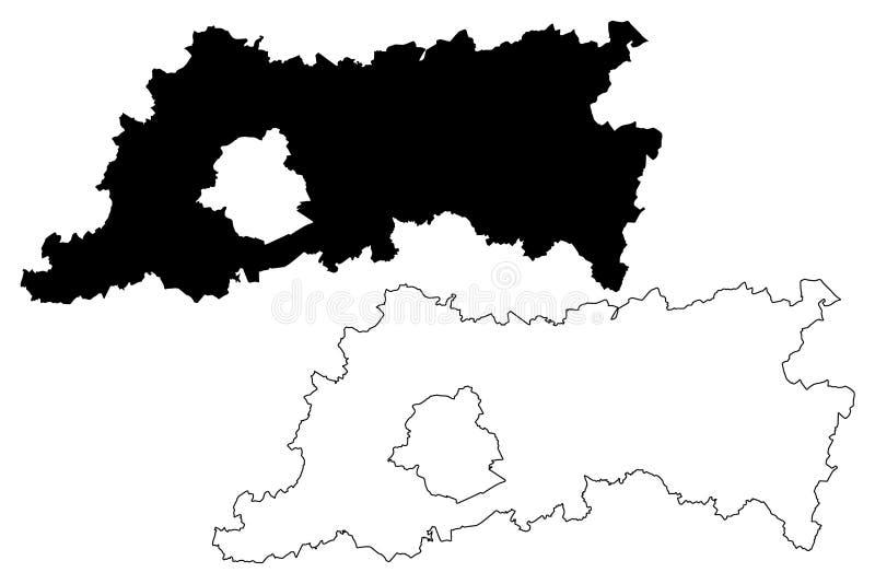 Province royaume de Belgique, provinces du Brabant flamand de la Belgique, illustration flamande de vecteur de carte de région, c illustration libre de droits