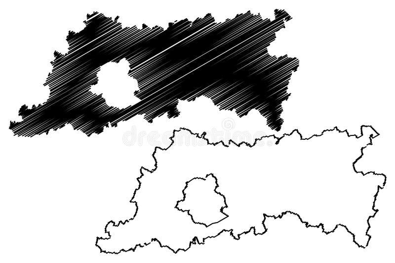 Province royaume de Belgique, provinces du Brabant flamand de la Belgique, illustration flamande de vecteur de carte de région, c illustration de vecteur