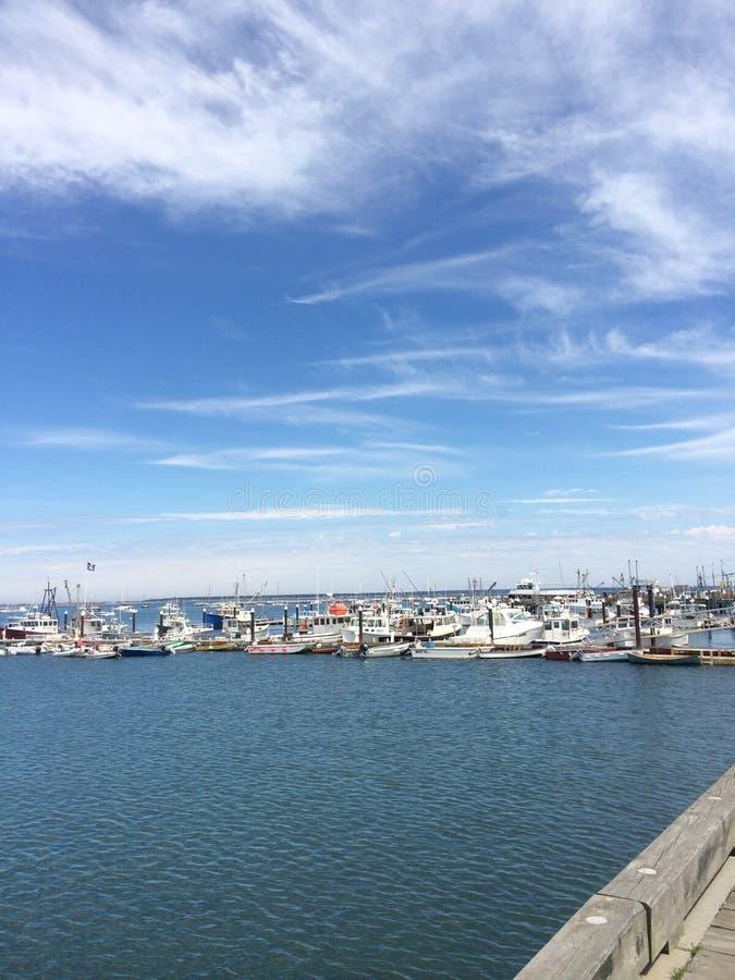 Provincetown港口,鳕鱼角 免版税图库摄影