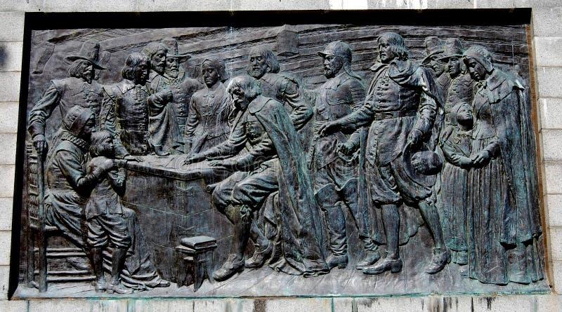 Provincetown, MA :香客生纪念碑 免版税库存图片