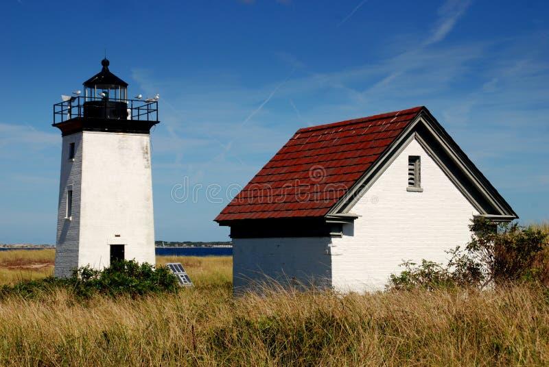 Provincetown, mA: Faro del punto del libro macchina immagini stock libere da diritti