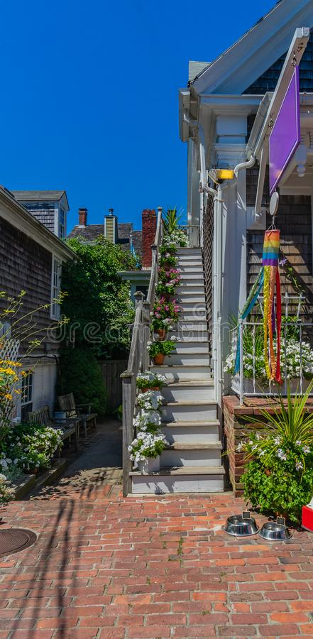 Provincetown Massachusetts August 2017 at the end of Cape Cod Provincetown has a large gay population of residents and tourists. stock photos