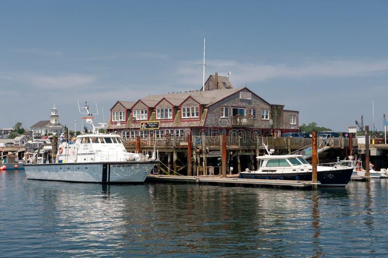 Cais de MacMillan em Provincetown, Cape Cod fotografia de stock royalty free
