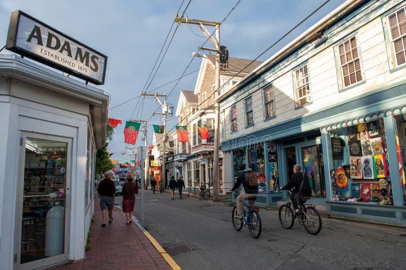 Rua comercial em Provincetown, miliampère fotos de stock