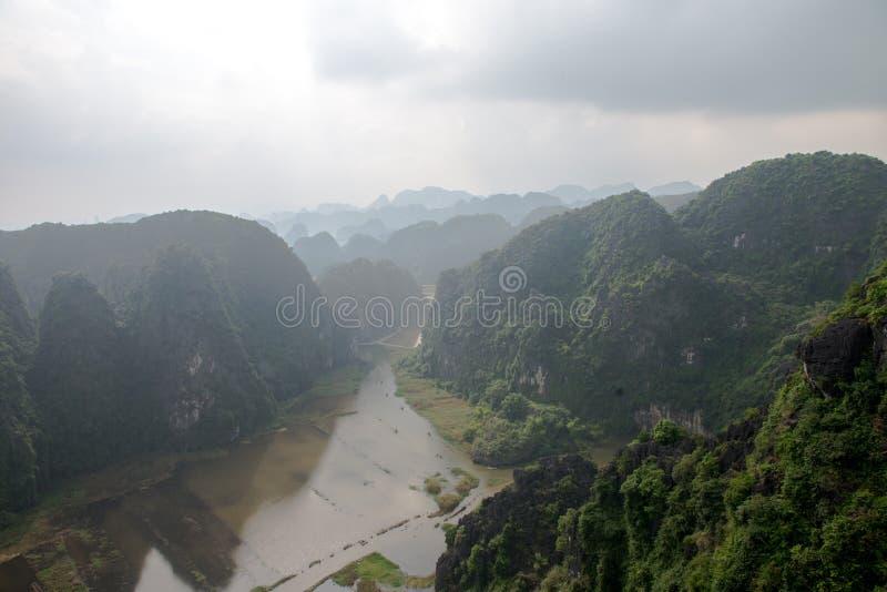 Provincia de Hang Mua Temple Ninh Binh, ha Noi Vietnam Dec 2018 imagen de archivo