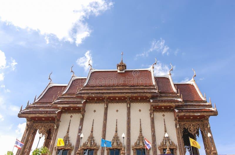 Provincia de Nakhon Ratchasima del templo del rai de la prohibición de Wat, Tailandia imagenes de archivo