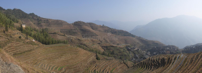 Provincia del Guangxi dei terrazzi del riso di Longsheng fotografia stock
