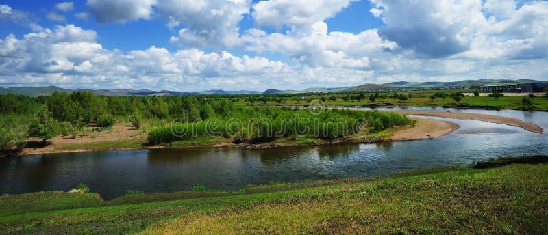 Provincia del río de la GEN, Mongolia, China imágenes de archivo libres de regalías