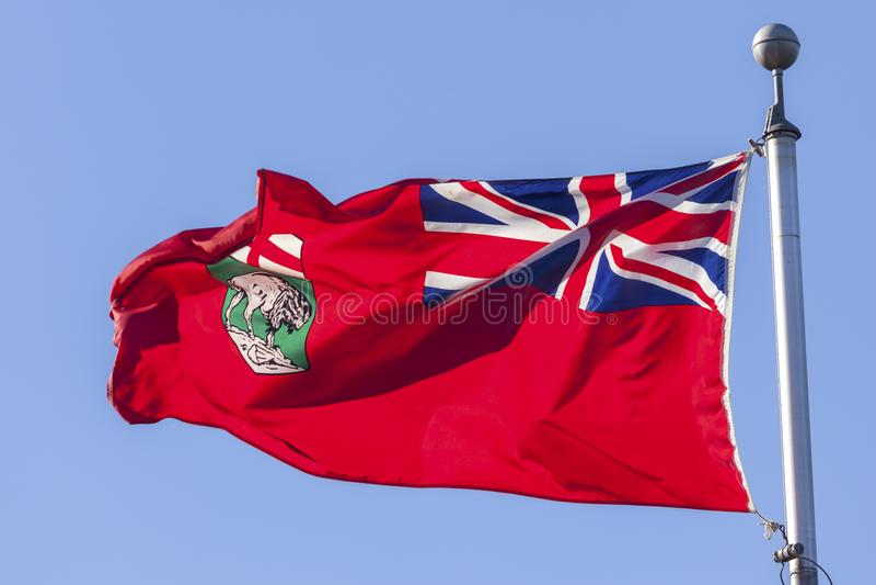 Provincia della bandiera di Manitoba, Canada fotografia stock