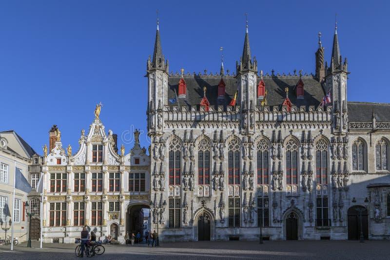 Provinciaal Hof - Bruges in Belgium stock photos