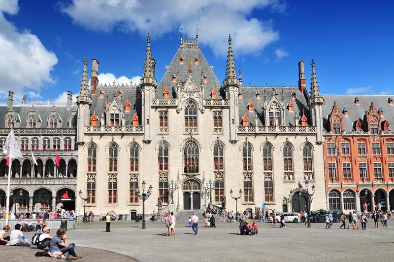 Provinciaal Hof Provinciaal Hof Hof in de oude stad Brugge België royalty-vrije stock foto