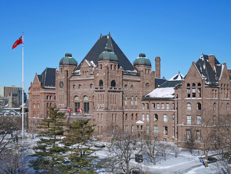 Provincial Parliament Building of the government of Ontario. In winter royalty free stock photos