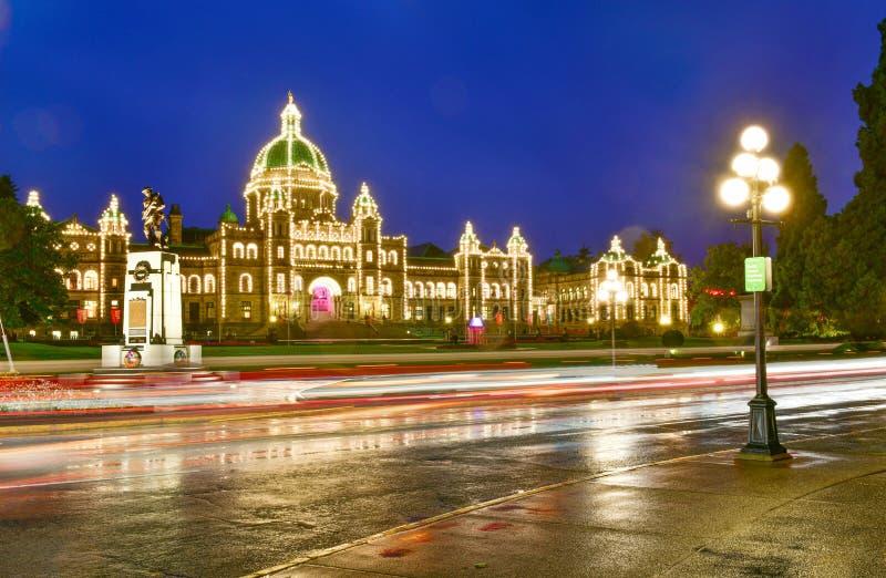 Provincial Parliament in Victoria, Canada. Provincial Parliament in Victoria at twilight time,British Columbia,Canada stock photo