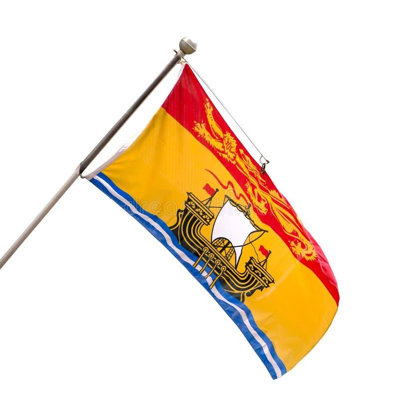 Provinciale Vlag van New Brunswick, Canada royalty-vrije stock afbeeldingen