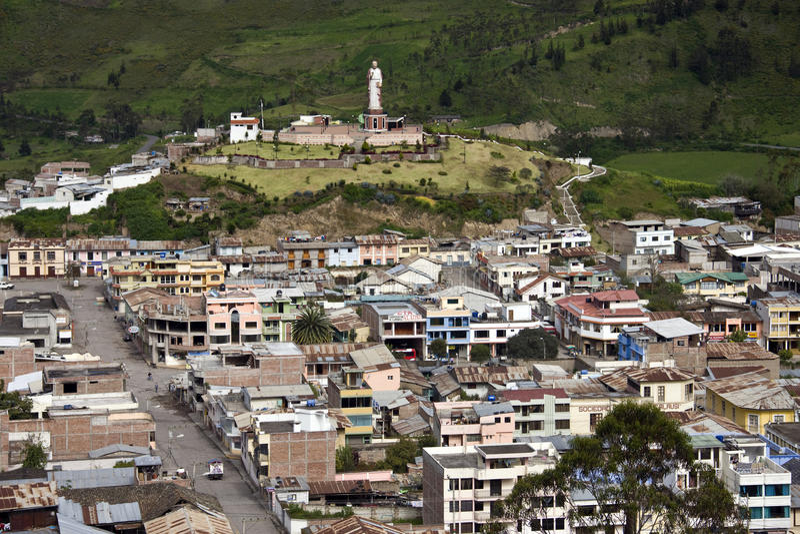 Provincie Ecuador - Alausi - Chimborazo royalty-vrije stock afbeelding