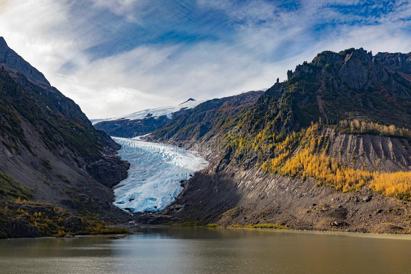 Provinsiell is av björnglaciären parkerar F. KR. Kanada royaltyfri foto