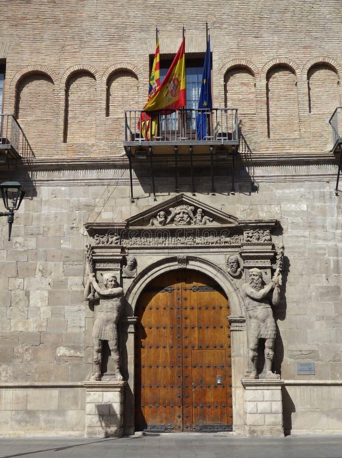 Provinsiell domstol i Saragossa arkivbild