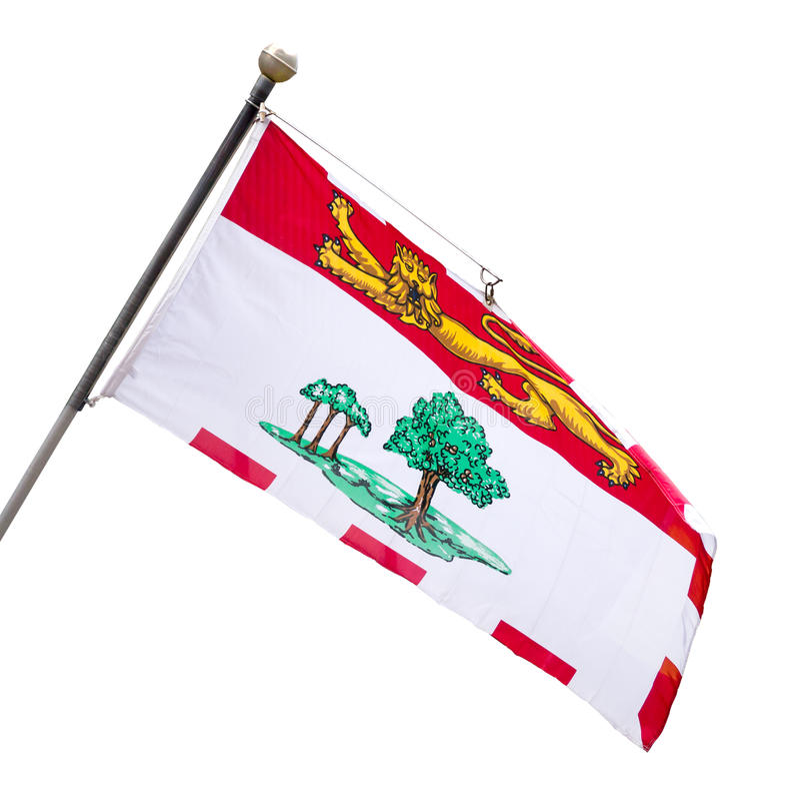 Provinsiell flagga av prinsen Edward Island royaltyfri bild
