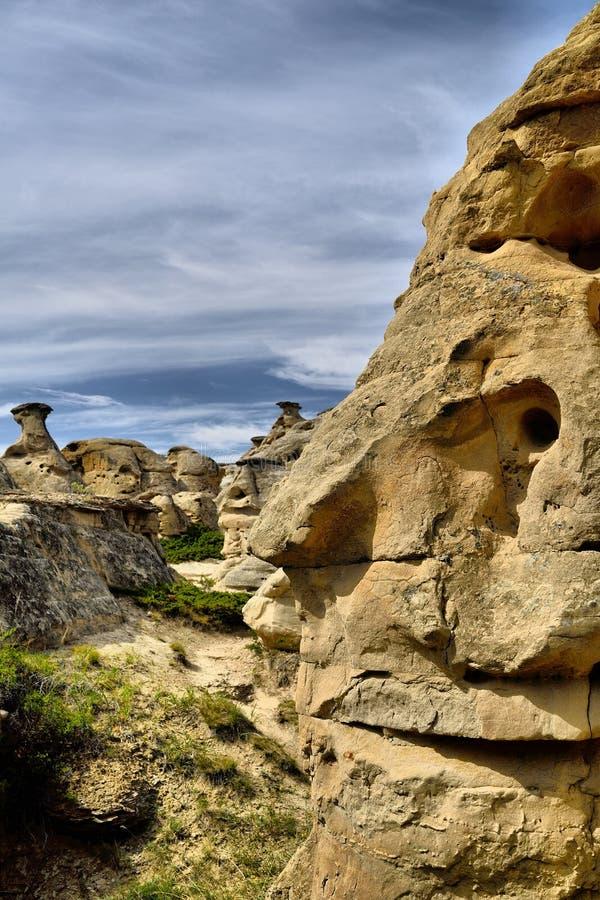 provinsiell stenwriting för park arkivbild