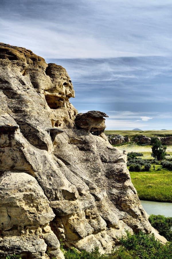 provinsiell stenwriting för park royaltyfria foton