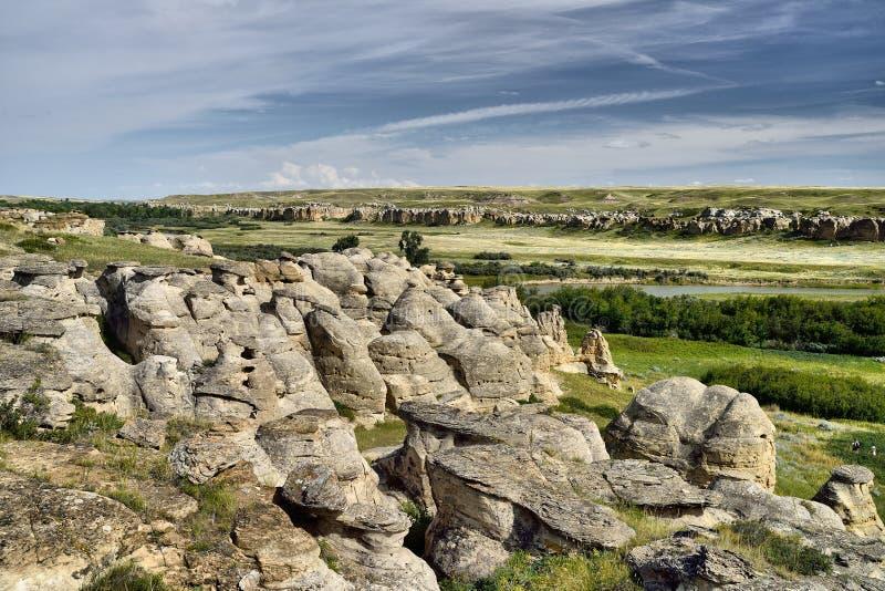 provinsiell stenwriting för park arkivfoto
