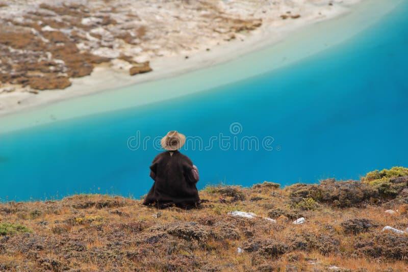 Provinz Chinas Sichuan, Muli zu Yading Wandern lizenzfreies stockbild