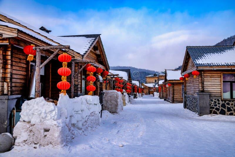 Provinz Harbins, Heilongjiang, China am 8. Januar 2019 stockfotografie