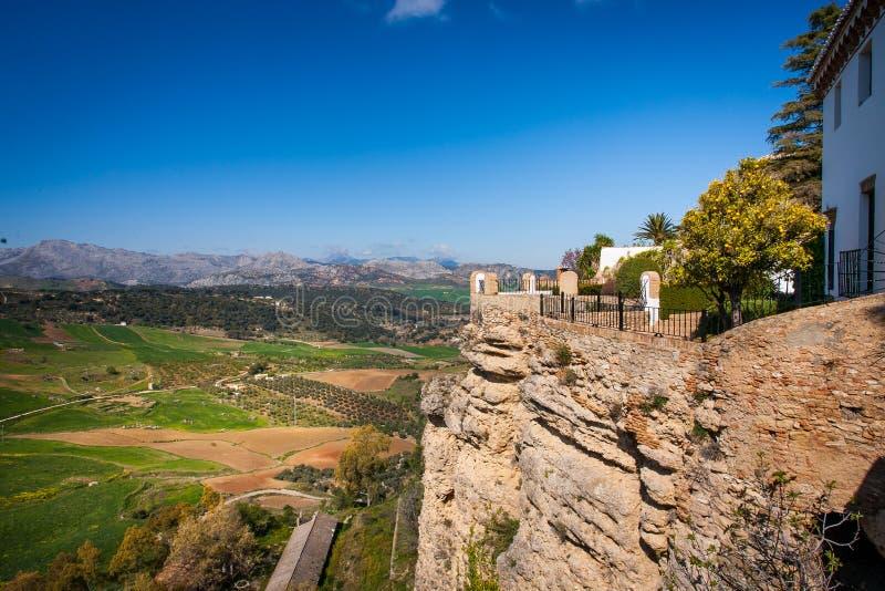 Provinz Rondas, Màlaga, Andalusien, Spanien - Ansicht von Mirado De stockbild
