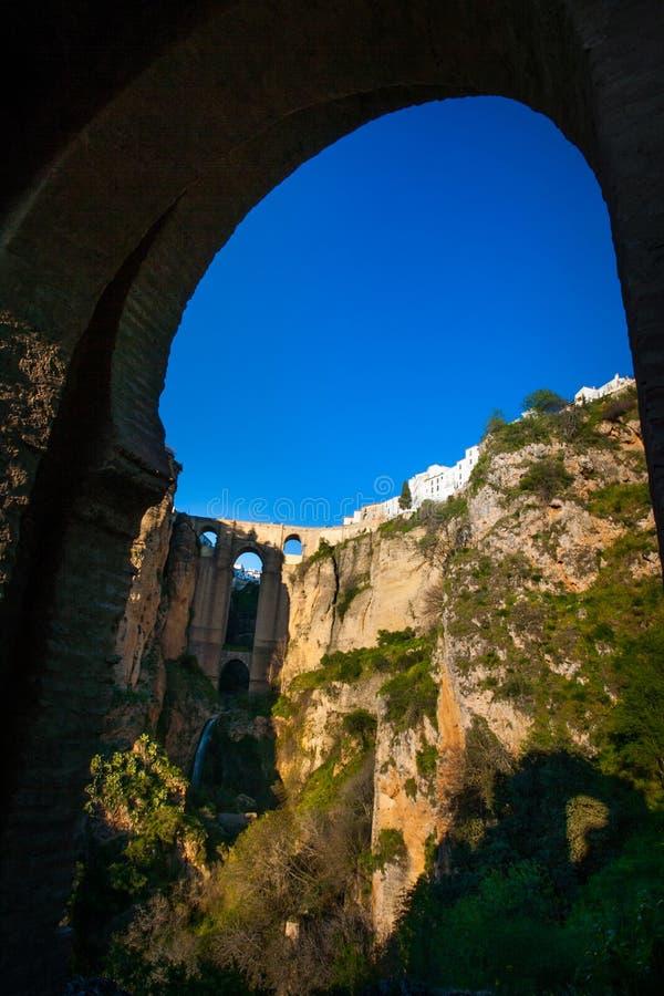 Provinz Rondas, Màlaga, Andalusien, Spanien - Puente Nuevo New Bridge lizenzfreie stockfotos