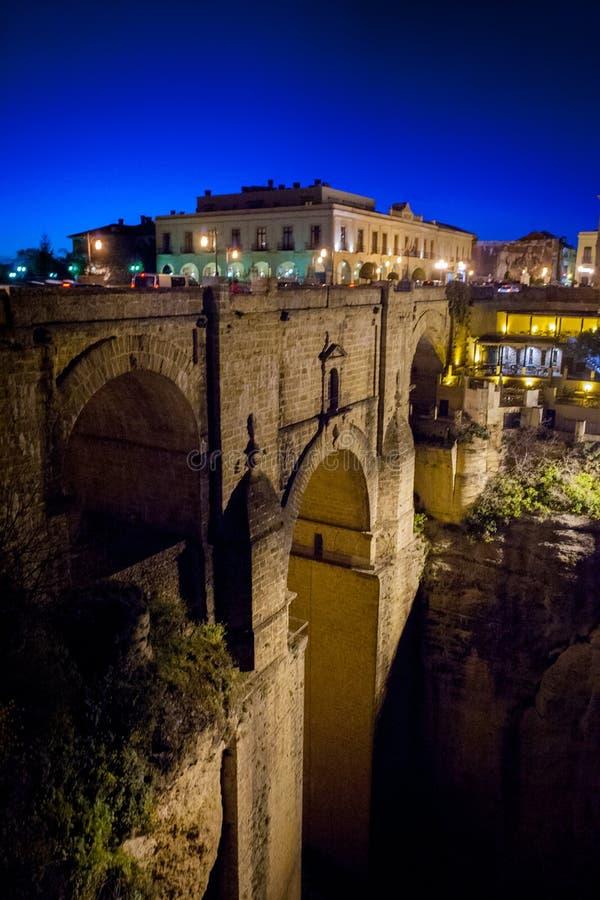 Provinz Rondas, Màlaga, Andalusien, Spanien - Puente Nuevo New Bridge stockfotografie