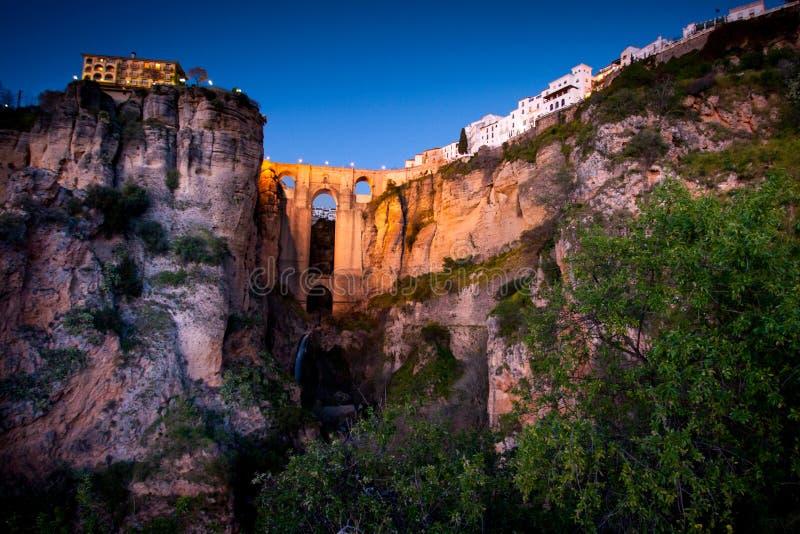 Provinz Rondas, Màlaga, Andalusien, Spanien - Puente Nuevo New Bridge stockfotos