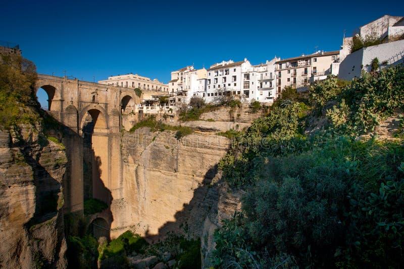 Provinz Rondas, Màlaga, Andalusien, Spanien - Puente Nuevo New Bridge lizenzfreies stockbild