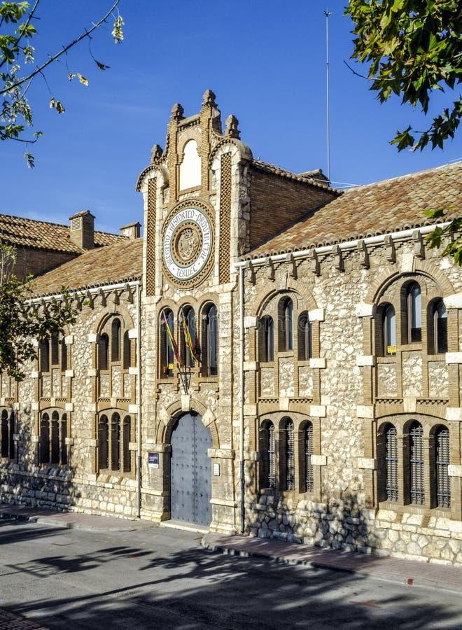 Provinzielles historisches Archiv von Teruel spanien stockbild