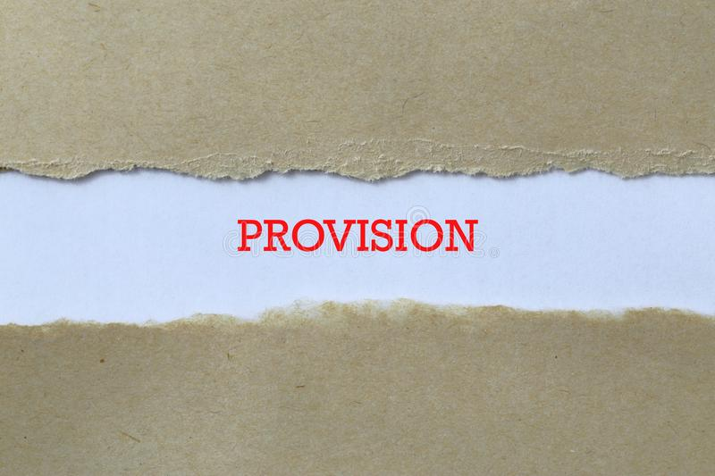 Provision on paper royalty free stock photography