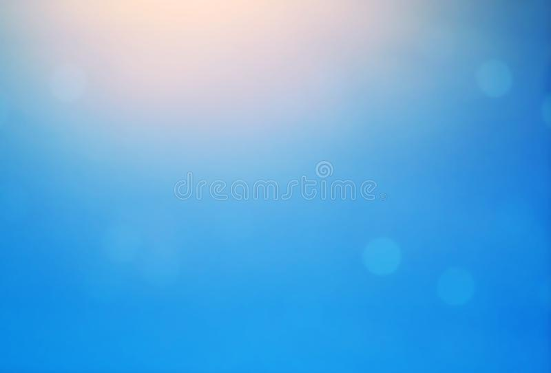 Provision-photo-bokeh-ciel-coucher du soleil-fond-bleu photo stock