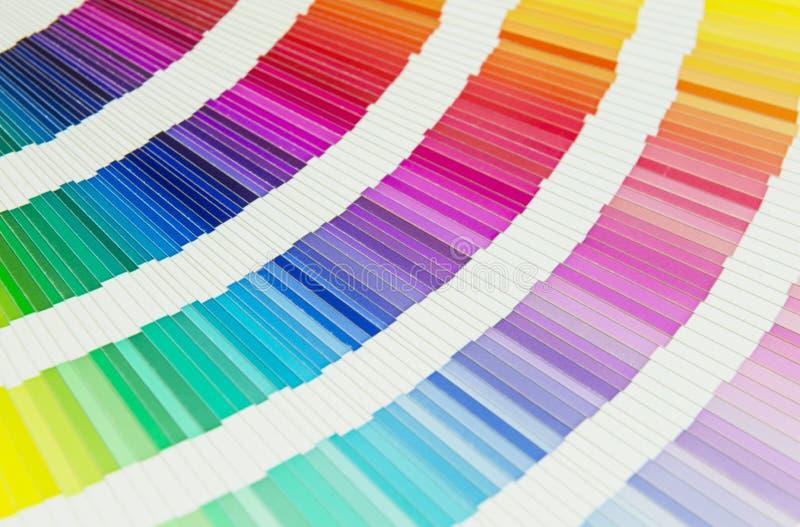provkartor för färgpalett arkivfoton
