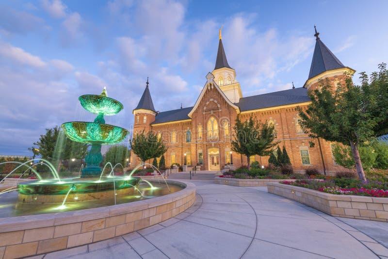 Provo, Świątynia Utah obraz royalty free