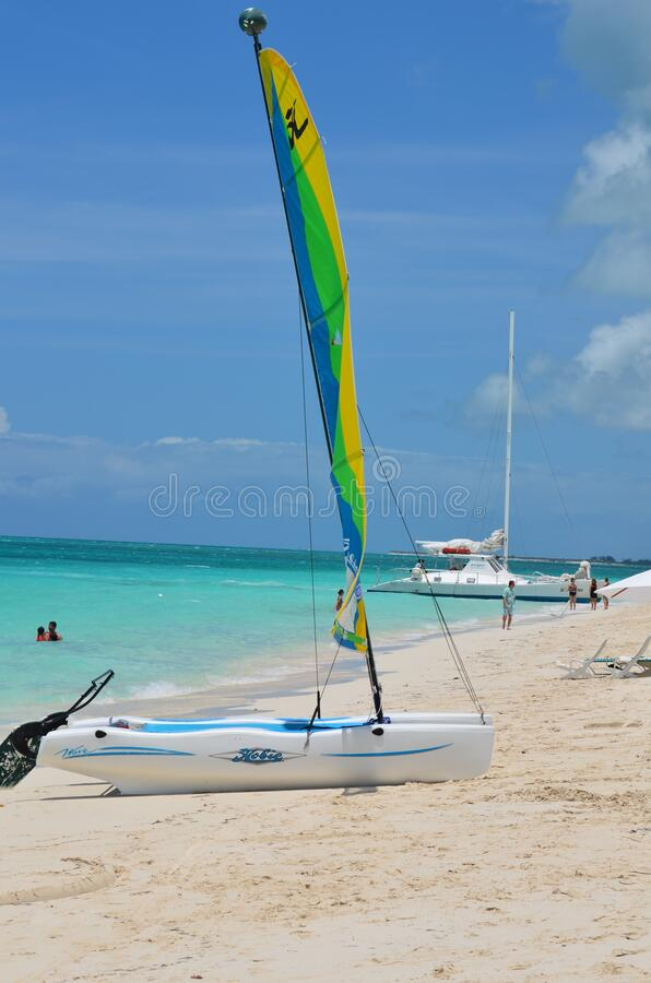 PROVO, UNITED STATES - Apr 01, 2020: Caribbean seascape. PROVO, UNITED STATES - Apr 01, 2020: A picture perfect day in the caribbean royalty free stock images