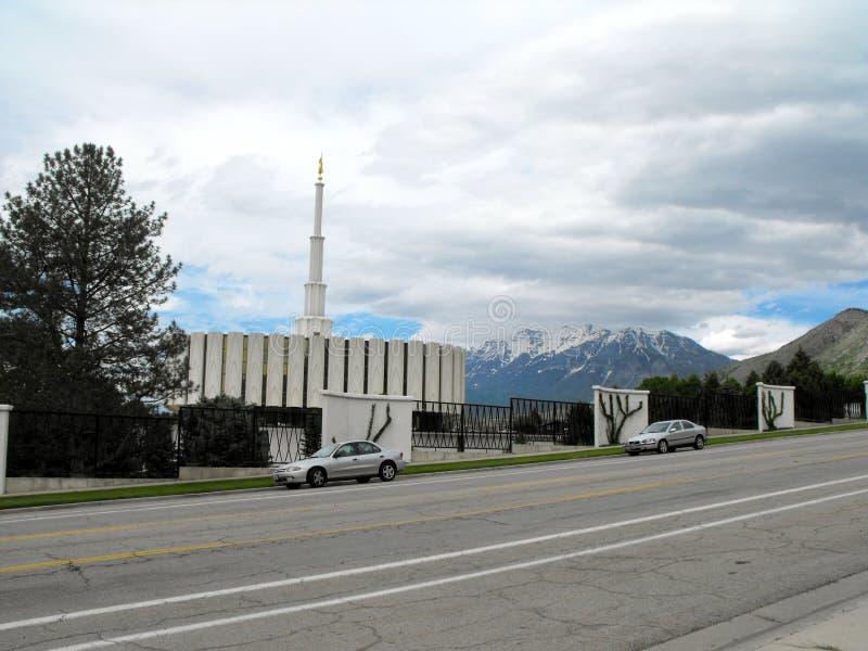 Provo, UT mormonu świątynia zdjęcia stock