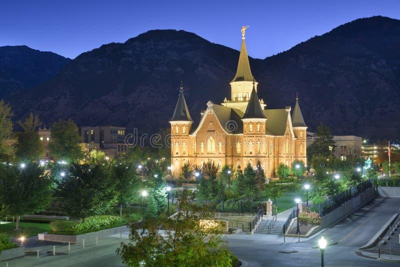 Provo, Utah, USA, am Temple des Stadtzentrums von Provo lizenzfreie stockbilder