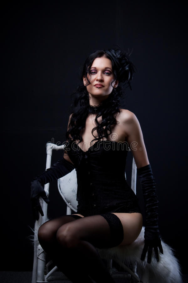 Download Provocation stock photo. Image of goth, masquerade, black - 31197134