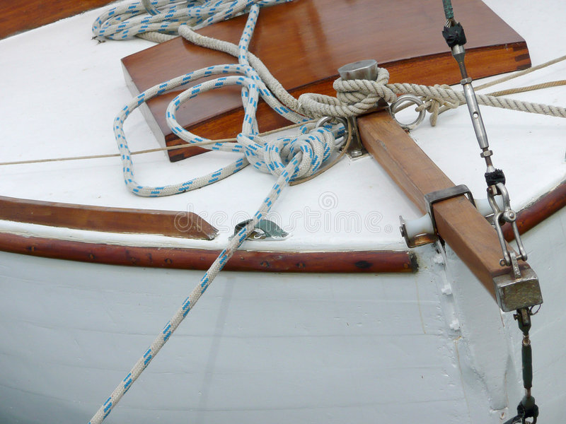 Prow de madeira do barco fotos de stock royalty free