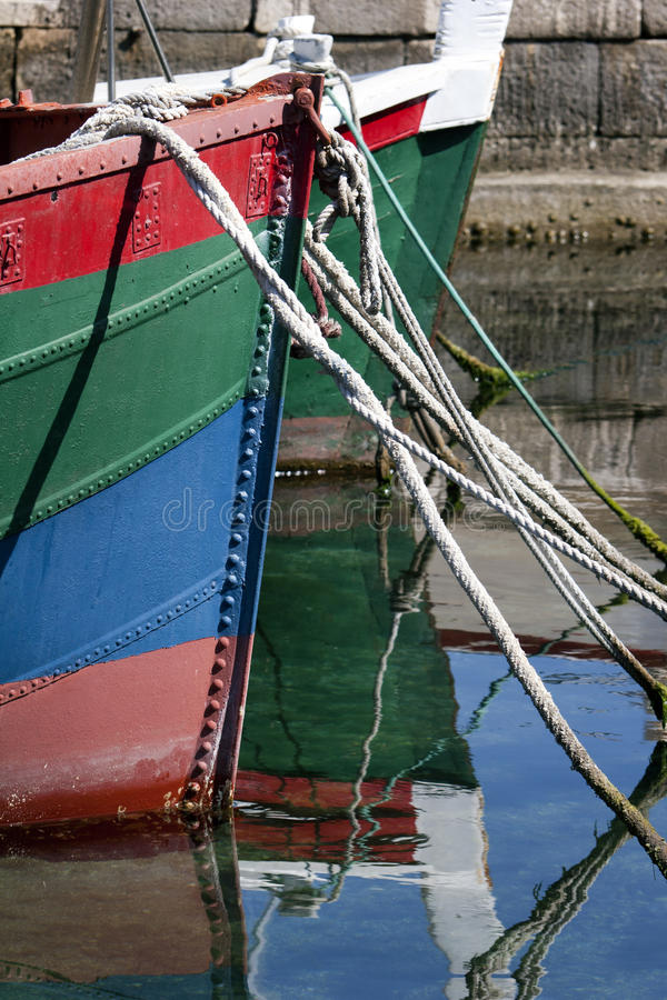 Free Prow Of Colored Boats Royalty Free Stock Photos - 33440388