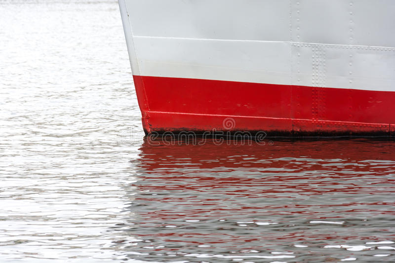 The prow of the ship traffic on the surface of the river. Moored on the waterfront royalty free stock images